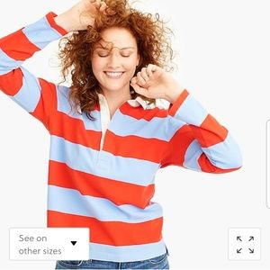 NWT J. CREW striped rugby
